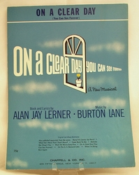 Sheet Music On A Clear Day (You can see forever) 1965