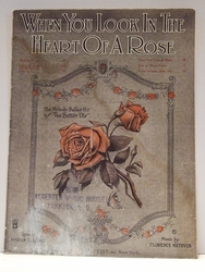 Collectible Sheet Music When You Look In the Heart of a Rose