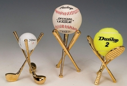 Brass Finish Decorative Tennis Ball Holder Out of Stock