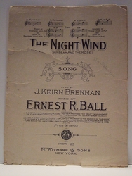 Collectible Sheet Music The Night Wind
