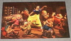 Post Card WDCC - Snow White and the Seven Dwarfs