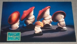 Large Post Card WDCC - Fantasia Mushroom Dancers
