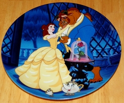 Disney Collector Plate Beauty and the Beast Learning to Love