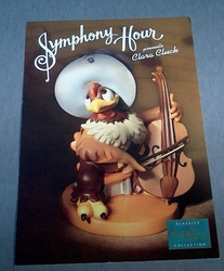 Large Post Card WDCC - Clara Cluck Symphony Hour