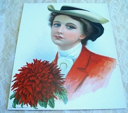 Early 1900 Victorian Lithograph Copyright 1906