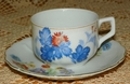 Cup and Saucer Occupied Japan Floral Pattern