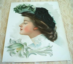 Early 1900 Victorian Lithograph 1906