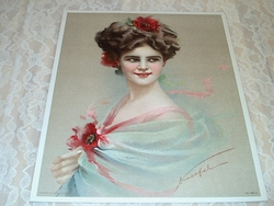 1910 Victorian Lithograph Gray Lithograph Company of New York