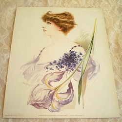 1904 Victorian Litho Eminent Actresses of Our Time Sarah Bernhardt