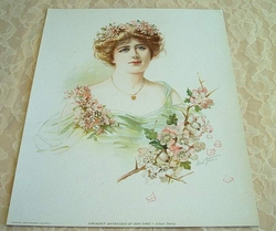 This Victorian Lithograph - Eminent Actresses of Our Time - Ellen Terry