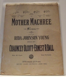 Collectible Sheet Music Mother Machree