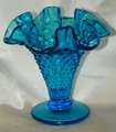Fenton Glass Small Hobnail Vase Jamestown Transparent (Blue) 1958-1959