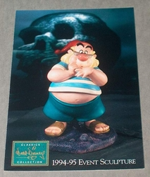 Post Card WDCC - Mr Smee Event Sculpture Peter Pan