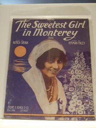 Collectible Sheet Music The Sweetest Girl in Monterey On HOLD