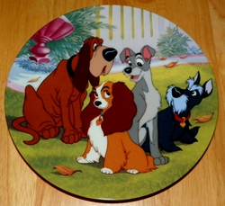 Disney Collector Plate Telling Tails Lady and the Tramp Series Out of Stock