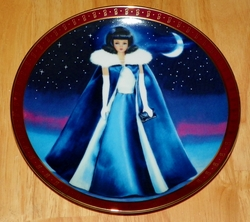 1990 Plate Barbie Midnight Blue 1965 Series High Fashion Barbie
