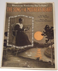 Collectible Sheet Music Where is my Wandering Boy To-night?