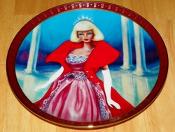 1990 Plate Barbie Sophisticated Lady Series High Fashion Barbie
