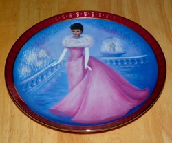 1990 Plate Enchanted Evening Series High Fashion Barbie