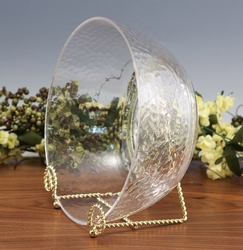 Brass Finish Bowl Twisted Wire Stand Out of Stock