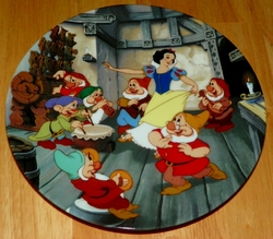 Disney Collector Plate Knowles Dance of Snow White and the Seven Dwarfs Out of Stock