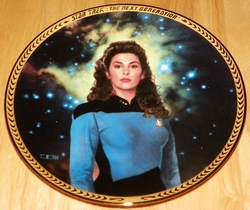 Star Trek Next Generation (TNG) Collector Plate Deanna Troi