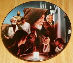 Star Wars Heroes and Villains Collector Plate Obi-Wan Kenobi