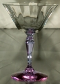 Fostoria Tall Sherbet Optic Clear Bowl and a Wisteria (Lilac) Stem