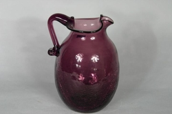 Pitcher Rainbow Amethyst Applied Handle Blown