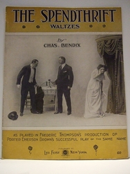 Collectible Sheet Music The Spendthrift Waltzes