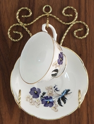 Twisted Wire Brass Cup & Saucer Hanger