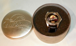 Disney California Adventure 2001 Watch in Org Tin w/ Glow in the Dark Hands