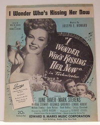 I Wonder Who's Kissing Her Now - Sheet Music