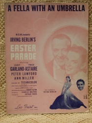 Collectible Sheet Music A Fella With an Umbrella – Easter Parade Fred & Judy