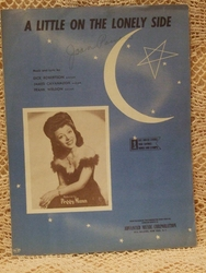 Collectible Sheet Music A Little on the Loney Side Peggy Mann