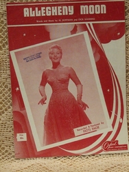 Collectible Sheet Music Allegheny Moon Patti Page