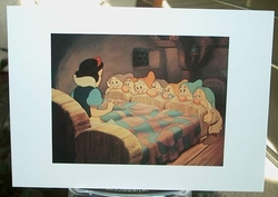 Post Card Disney Archive Snow White Wakes Up