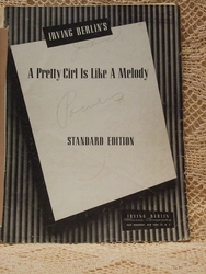 Collectible Sheet Music A Pretty Girl Is Like A Melody Std Ed