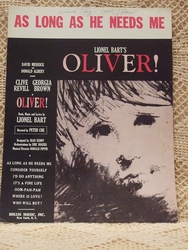 Collectible Sheet Music As Long As He Needs Me Oliver