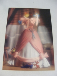 RARE Cinderella Dress Post Card