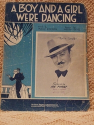 Collectible Sheet Music A Boy and a Girl Were Dancing
