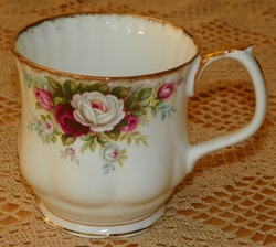 Royal Albert China Mugs Celebration Pattern