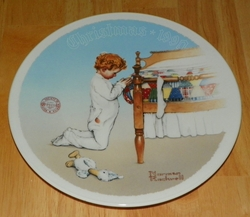 1990 Rockwell Plate A Christmas Prayer Series Name Annual Holiday Plate