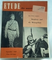 Etude The Music Magazine 1949 September
