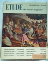 Etude The Music Magazine 1950 September