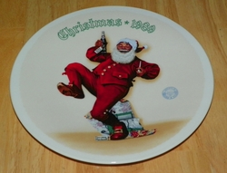 1989 Rockwell Plate Jolly Old St. Nick Series Name Annual Holiday Plate