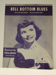 Collectible Sheet Music Bell Bottom Blues