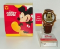 Disney Mickey Mouse Watch Live Action Graphics Leather & Water Resistant
