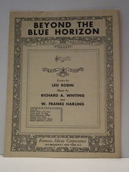 Collectible Sheet Music Beyond The Blue Horizon