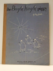 Collectible Sheet Music The Bogglie Wooglie Piggy